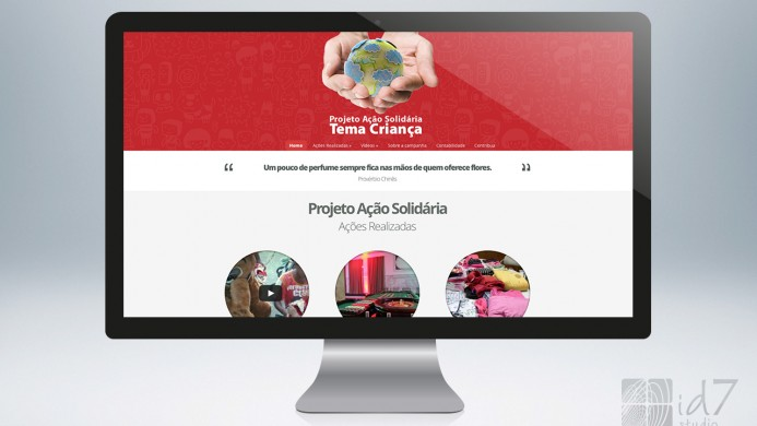 Website Ação Solidária G4S