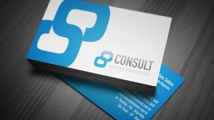 Cartões de Visita Consult Soluções