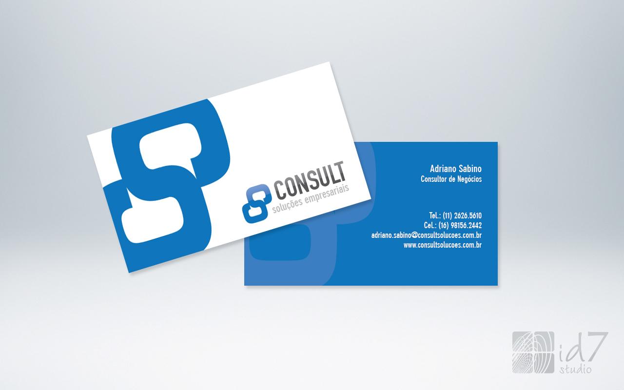 Design Gráfico - cartão de visita consult solucoes