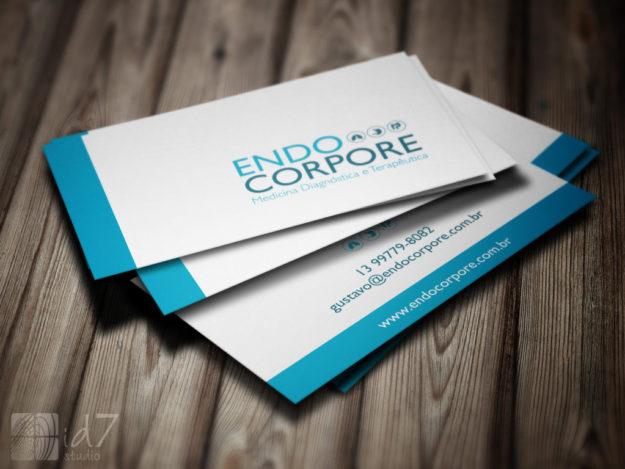 Criação de cartões de visita Endocorpore