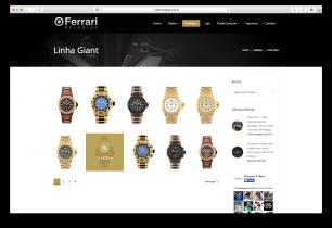 Criação de Site - Ferrari Relógios