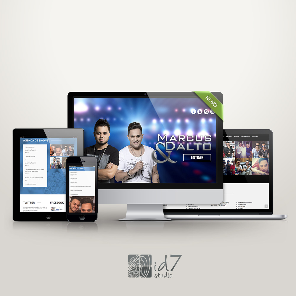Website Onepage Marcus e Dalto