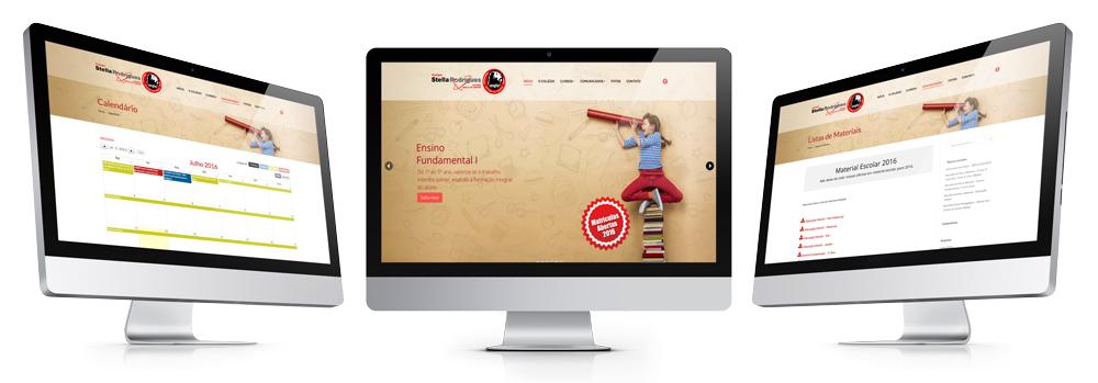 Site para o Colégio Stella Rodrigues